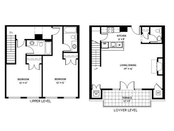 Barringer Penthouse Floorplan