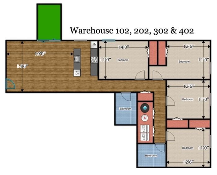 Cbs rentals for Warehouse house plans